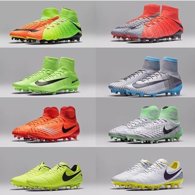 The brand new #RaditionFlare Pack from @nikefootball. This pack has released new colorways for men (left) and women (right). What are your thoughts on the pack? #Nike #nikesoccer #nikefootball #TeamFK #Cleatstagram #SoccerBible #Football #Futbol #Cleats #Boots #SoccerCleats #FootballBoots #Cleatsandboots #cleatCounty  #Pdsbootroom #Prodirect  #FBRfeatured #Soccerbible #SBspotlight #Unisportlife  #Soccerpro #Soccerdotcom #Worldsoccershop #Soccerreviews