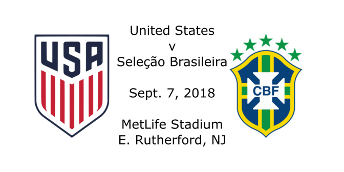 Match Report: US v. Brazil – Sept. 7, 2018